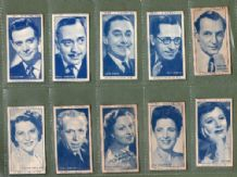 Tobacco cigarette cards Radio Celebrities 1950 set of 50 cards